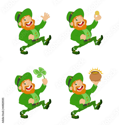 Printed kitchen splashbacks Fairytale World Collection of vector Leprechauns