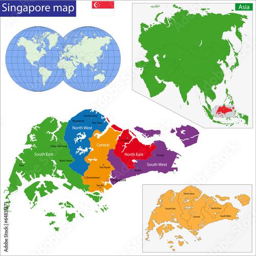 Photo  Singapore map