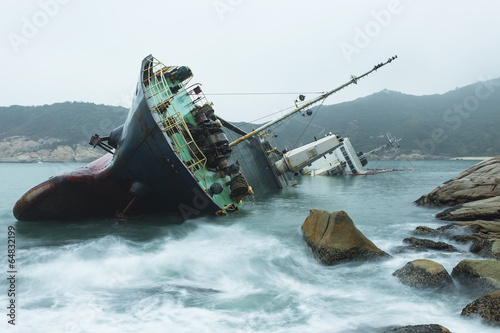 Photo Stands Shipwreck Wreck on the coast