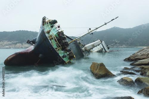 Garden Poster Shipwreck Wreck on the coast