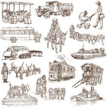 Transport Equipment Around The World (set No. 4, White)
