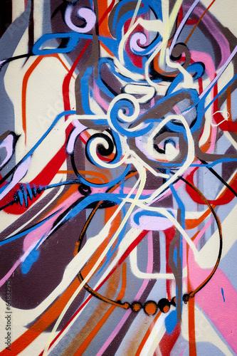 Foto auf AluDibond Graffiti Graffiti design abstrait