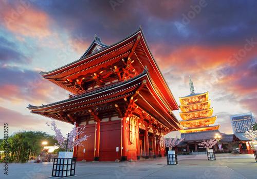 Deurstickers Tokyo Tokyo - Sensoji-ji, Temple in Asakusa, Japan