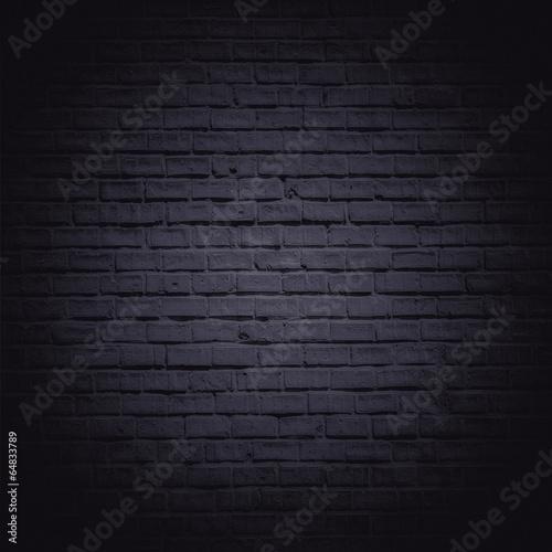 Foto op Plexiglas Historisch geb. Dark brick wall
