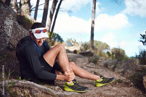 Photo painful running injury