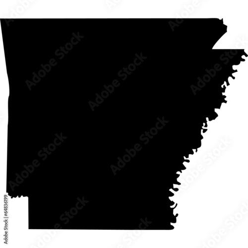 High detailed vector map - Arkansas. Canvas Print