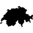 High detailed vector map - Switzerland.