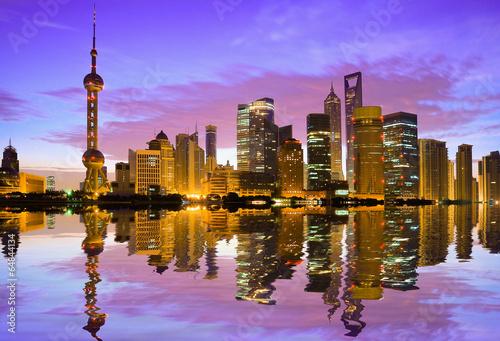 Photo  Shanghai skyline at dawn