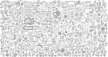 Mega Doodle Design Elements Vector Set