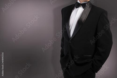 Classical Black Tuxedo Bow tie Canvas-taulu