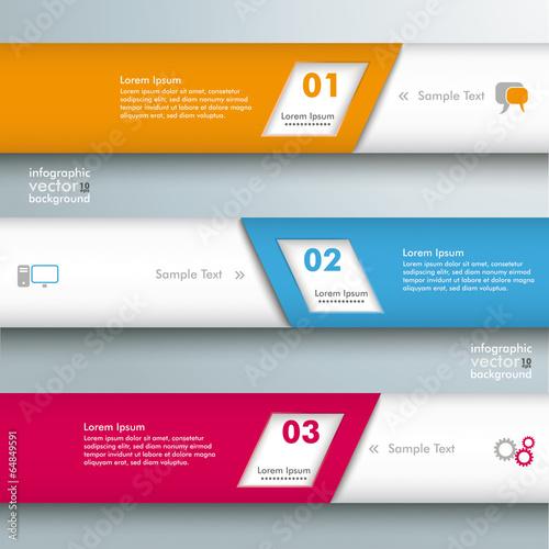 Photo Infographic 3 Bevel Lines