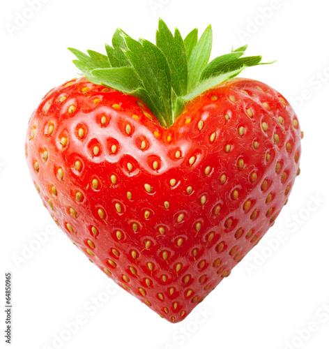 Fotografía  Red berry strawberry heart shape