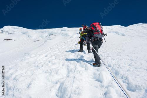 Island peak( Imja Tse) climbing, Everest region, Nepal Fototapeta
