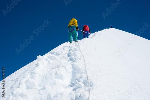 Island peak( Imja Tse) climbing, Everest region, Nepal Slika na platnu