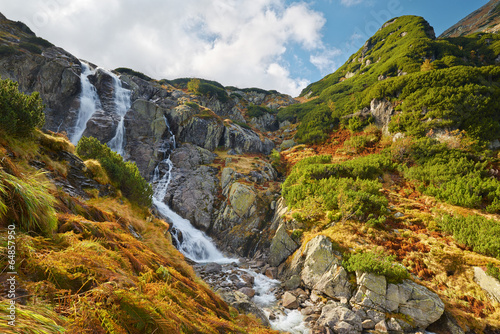Obraz The Great Siklawa Waterfall. High Tatra Mountains, Carpathians. - fototapety do salonu