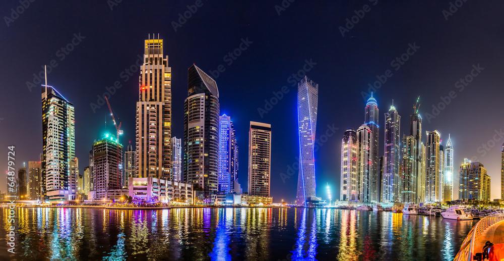 Fototapeta Dubai Marina cityscape, UAE