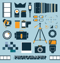 Vector Set: Photography And Ca...