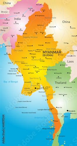 Myanmar Fototapete