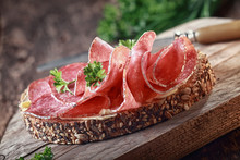 Wholegrain Bread With Spicy Italian Salami