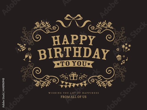 Birthday card design template Poster