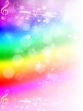 音符 楽譜 虹