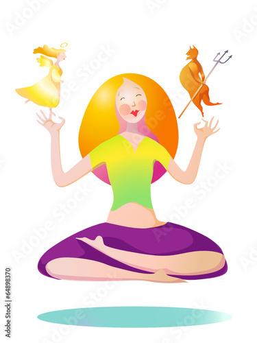 Fototapeta yoga obraz na płótnie
