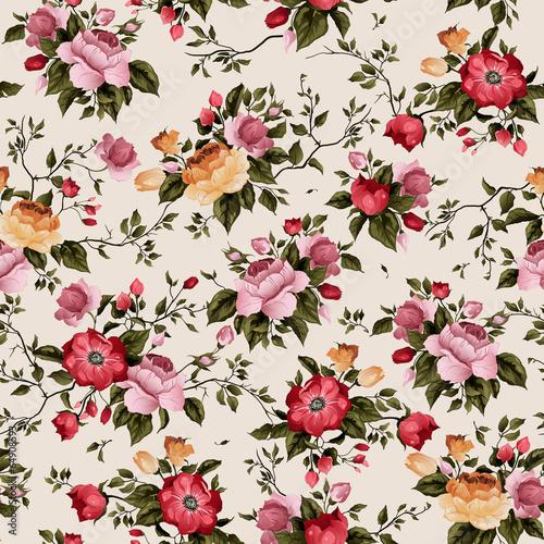 bezszwowe-wektor-kwiatowy-wzor-z-roz-na-jasnym-tle