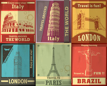 Vintage Travel Set Poster Design