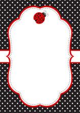 Ladybug Invitation Card Template