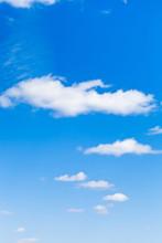 Few Light Clouds In Blue Sky