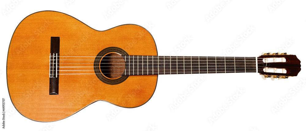 Fototapeta full view of spanish acoustic guitar