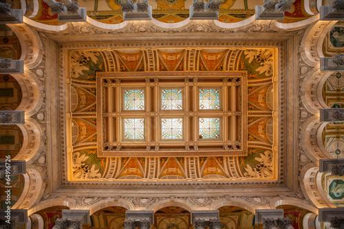 Foto auf AluDibond Kunstdenkmal Library of Congress, interior of the building, DC