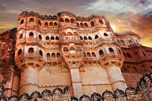 Mehrangarh  Fort In Jodhpur , Rajastan India