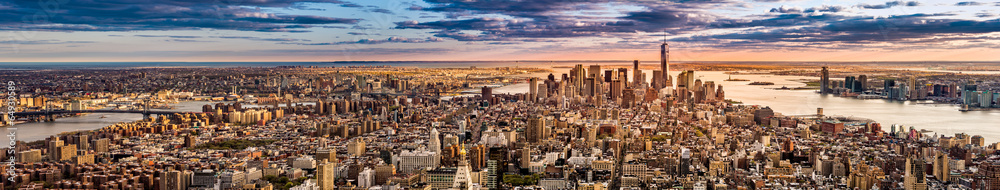Fototapety, obrazy: New York Panorama before sunset