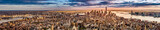 Panorama Nowego Jorku przed zachodem słońca