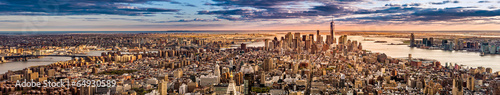New York Panorama before sunset #64930589