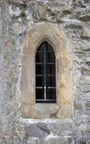 Stone close window with bars