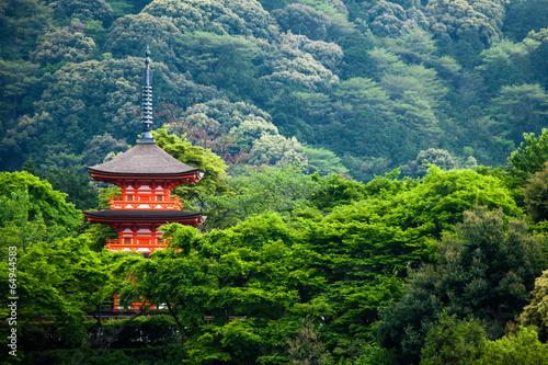 Poster de jardin Kyoto Three-storied pagoda,Taisan-ji Temple,Kiyomizu-dera Temple,Kyoto