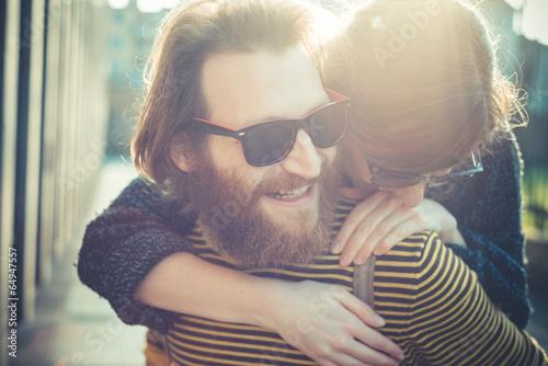 Fotografia, Obraz  young modern stylish couple urban