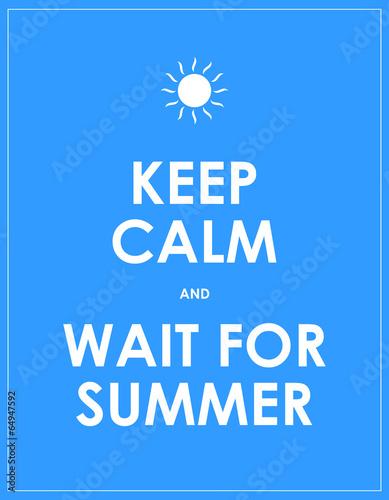 Vászonkép  special summer keep calm modern motivational background