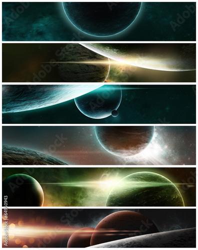 sztandar-planety-na-gwiazdzistym-tle