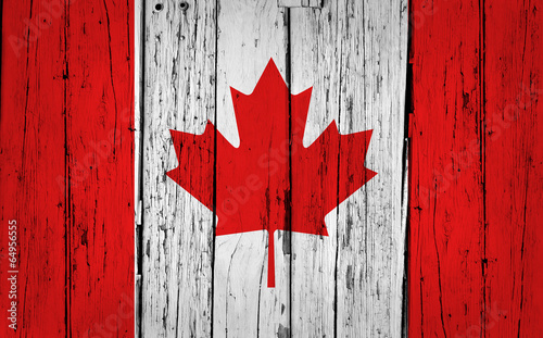 Poster Canada Canada Flag Grunge Background