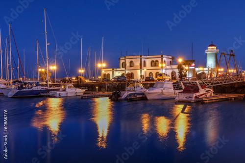 Foto op Plexiglas Oranje Marina Rubicon, Lanzarote, Spain