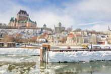 Quebec City Skyline A Cloudy Sky