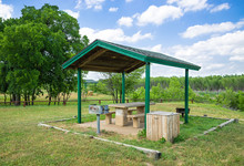 Park Picnic Area With Grill