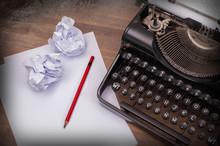 Close-up Of An Old Typewriter ...