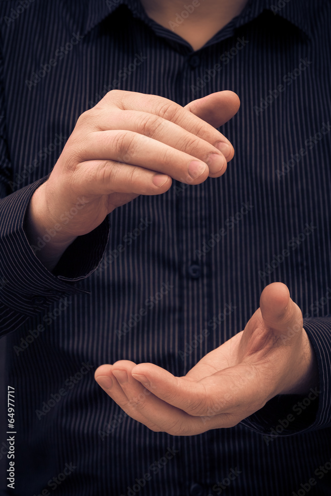 Fototapety, obrazy: man hand showing size applauding