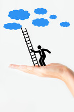 Businessman Climb To The Sky