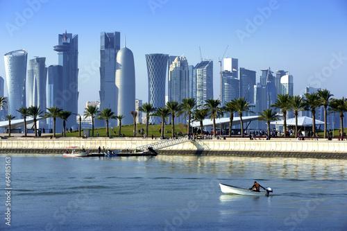 Fotobehang Midden Oosten Skyline of the Doha