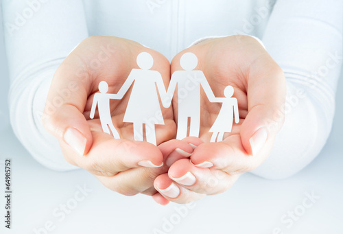 Juliste  hands woman expresses the concept of family
